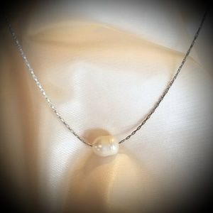 Minimalist Pearl Necklace